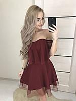 Нарядное платье сетка в горошек