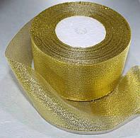 Лента парча, 5 см золото