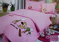 Постельное  белье Alltex Детская аппликация Розовый