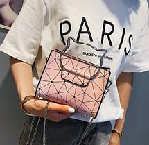Модна сумка з ручками котиками і голографічним дизайном, фото 3