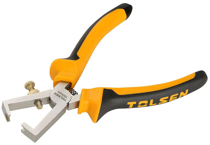 Кліщі для зняття ізоляції Tolsen 160 мм Ерго рукоятки (10013)