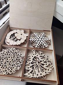 Новогодний набор игрушек для елки 16 шт