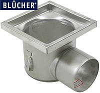 Промисловий трап для кухні Blucher 726.402.110, нержавіюча сталь, горизонтальний вихід D110