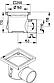 Промисловий трап для кухні Blucher 726.402.110, нержавіюча сталь, горизонтальний вихід D110, фото 2