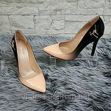 Туфли лаковые беж