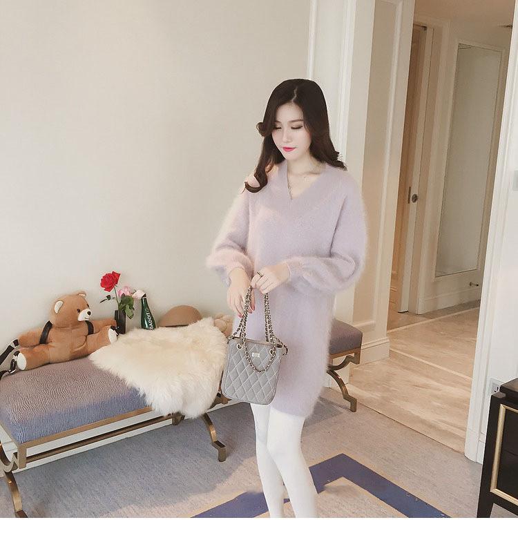 Теплое кашемировое платье для девушки светло- фиолетовое