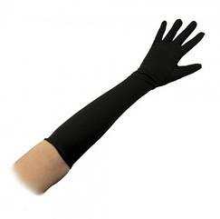 Перчатки эластан длинные (черные)