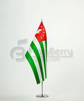 Флажок Абхазии 13,5*25 см., плотный атлас