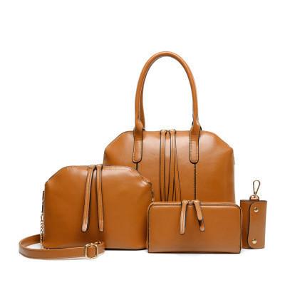 Набор сумок женских 4в1 из качественной экокожи рыжий