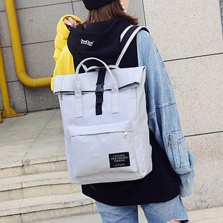 Рюкзак женский тканевый городской серый купить по выгодной цене в ... aba9e92b198