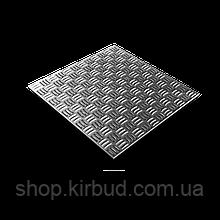 Лист рифленый 4мм 1,25х6м