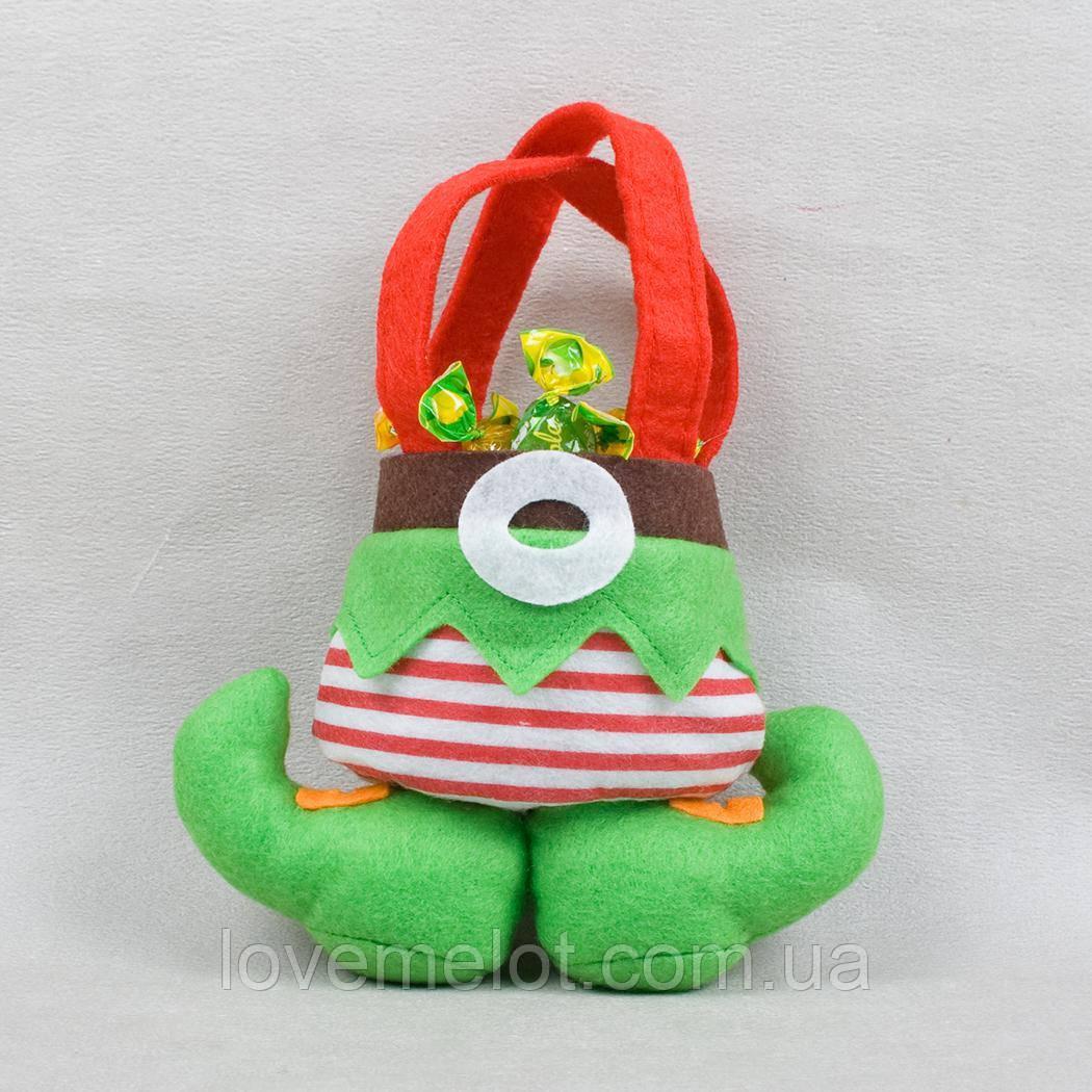 """Новорічний декоративний - мішечок """"Ельфійські казки"""" для цукерок"""