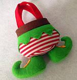 """Новорічний декоративний - мішечок """"Ельфійські казки"""" для цукерок, фото 5"""