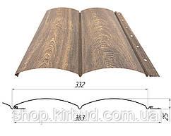 "Металевий сайдинг, Блок-хаус ""Колода"" print 3Д дерево 0,40 мм"