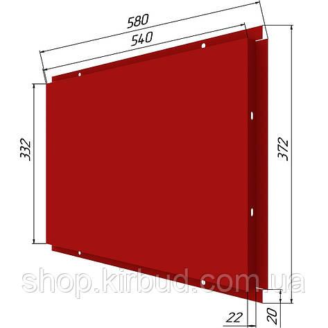 Фасадные касети (под заказ) оцинкованые 0,50мм 372х580мм, фото 2