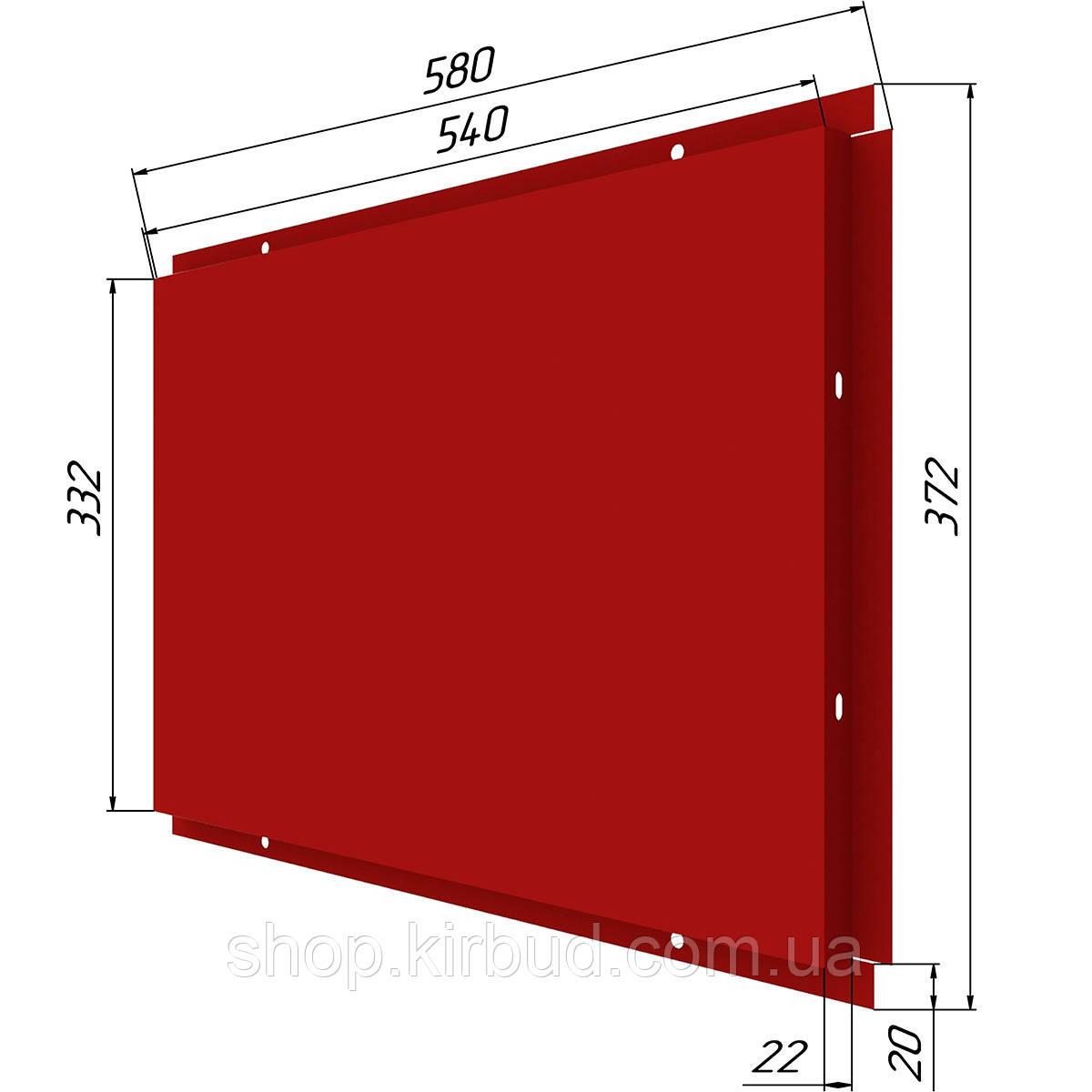 Фасадные касети (под заказ) матт 0,45мм 372х580мм