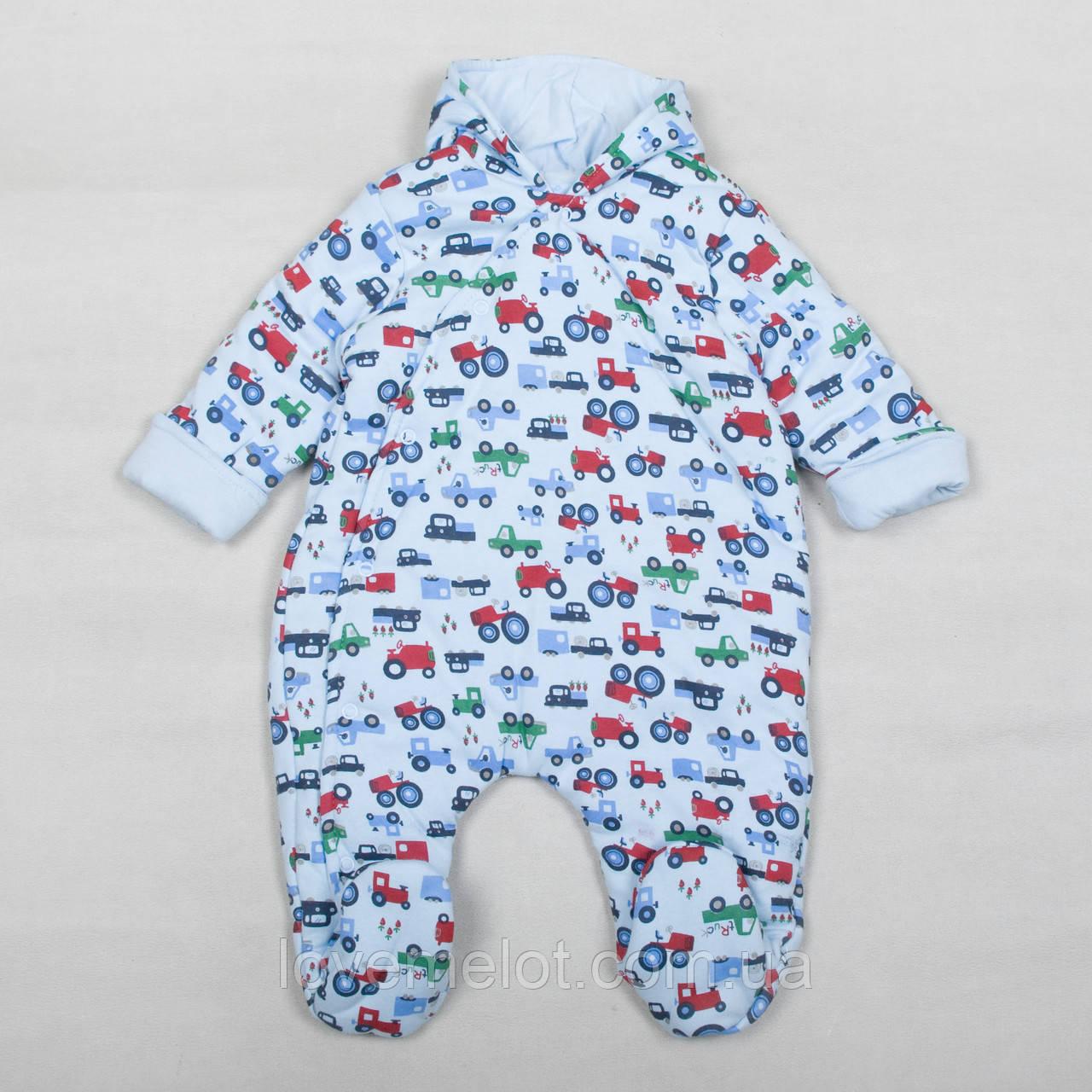 """Детский комбинезон для мальчика """"Тино"""" для новорожденного, рост 56, 62 и 68см"""