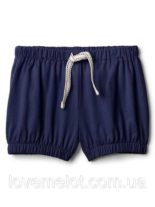 Детские шорты Gaр синие для девочки, размер 92 см