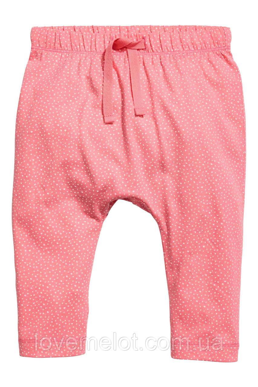 """Детские штаны хлопковые органик """"Лепесток"""" для девочки на рост 86 и 92 см"""