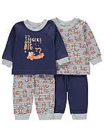 """Детская пижама для мальчика """"Тигра - Мечтатель"""", набор 2 шт, размер 74 см"""
