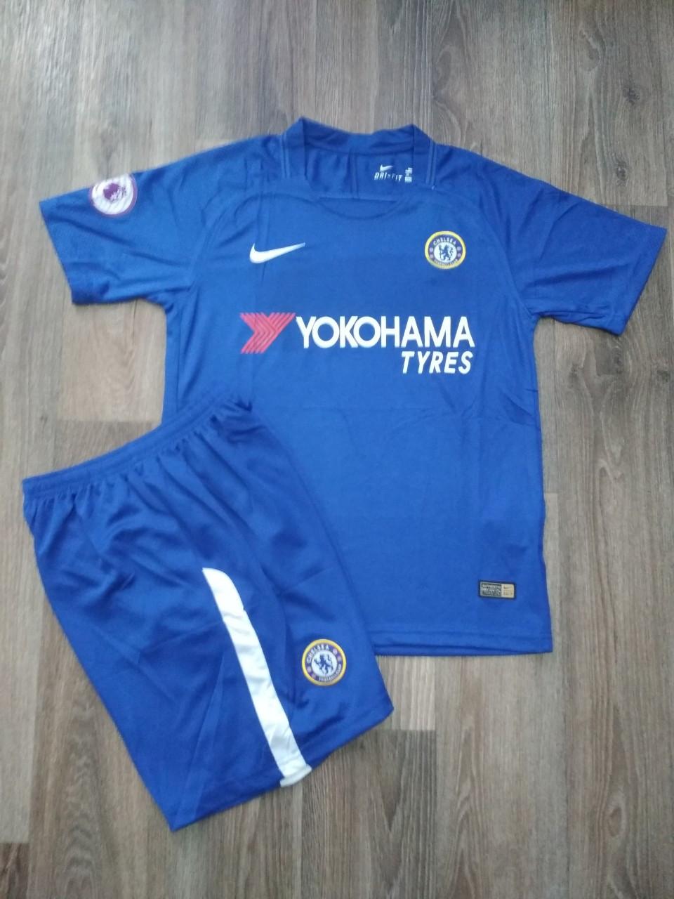 Детская футбольная форма Челси  2017-2018 основная синяя  (30 размер)     Распродажа