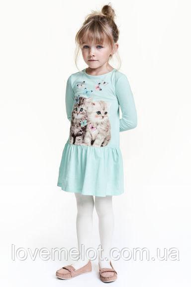 """Детское платье хлопковое с длинным рукавом H&M """"Очаровашки"""" на рост 92 и 128см"""