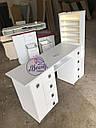 Профессиональный маникюрный стол с бактерицидной лампой УФ-лампой, подсветкой и вытяжкой, фото 5