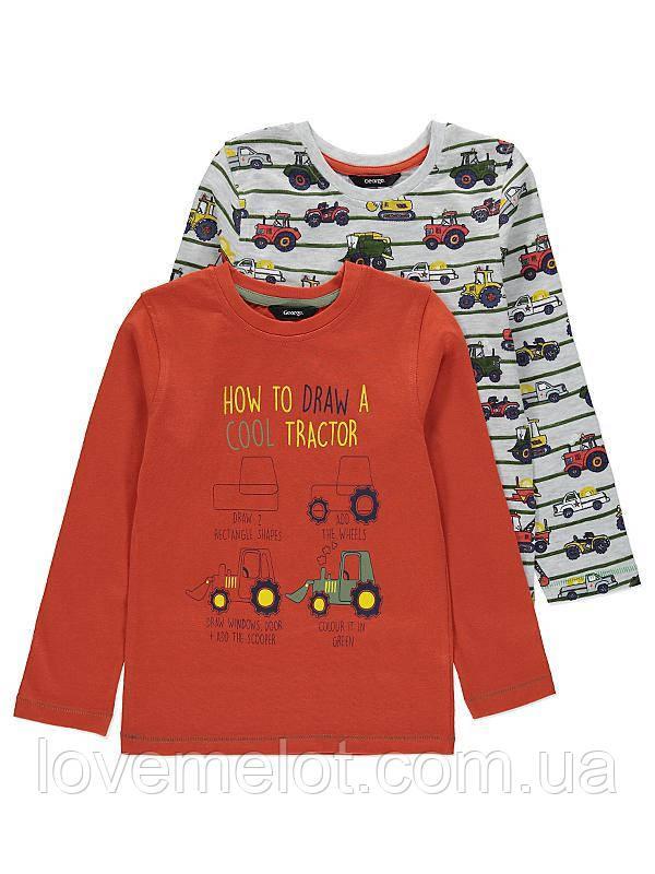 """Детские регланы """"Техника"""", набор 2 шт, регланы для мальчика размер 92 см"""