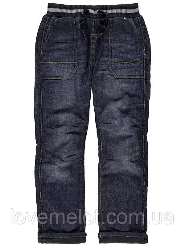 """Дитячі теплі джинси на підкладці """"Морган"""" для хлопчика на ріст 86см"""
