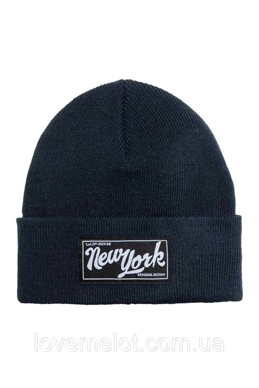 """Детская шапочка для мальчика H&M """"Нью-Йорк"""", размер 2-4 года"""