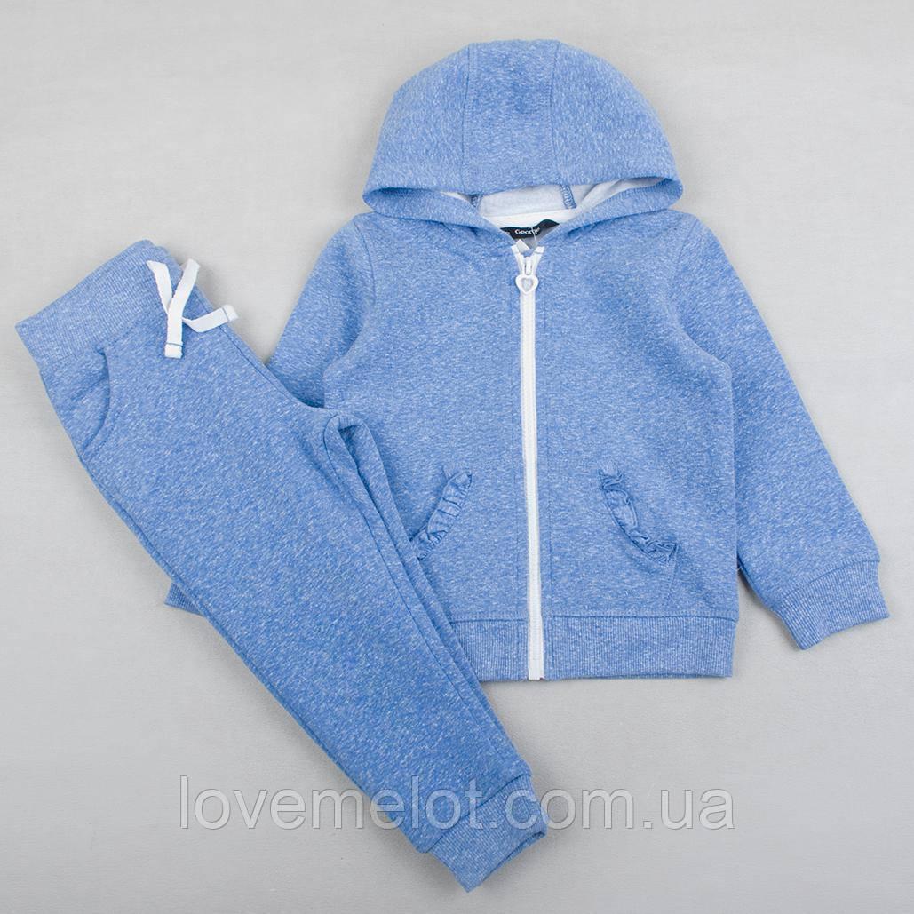 """Теплый детский костюм """"Турмалин"""" для девочки штаны и реглан на рост 86, 92, 98 см одежда"""