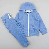 """Теплый костюм """"Турмалин"""" для девочки штаны и реглан на рост 86, 92, 98, 104см одежда для садика"""