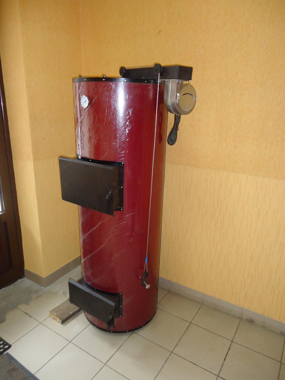 Твердотопливный бытовой котел отопления PlusTerm 12 кВт