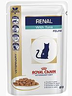 Royal Canin Renal Feline with Beef pouches 85 г х 12 шт влажный корм с говядиной для кошек с почечной недостат