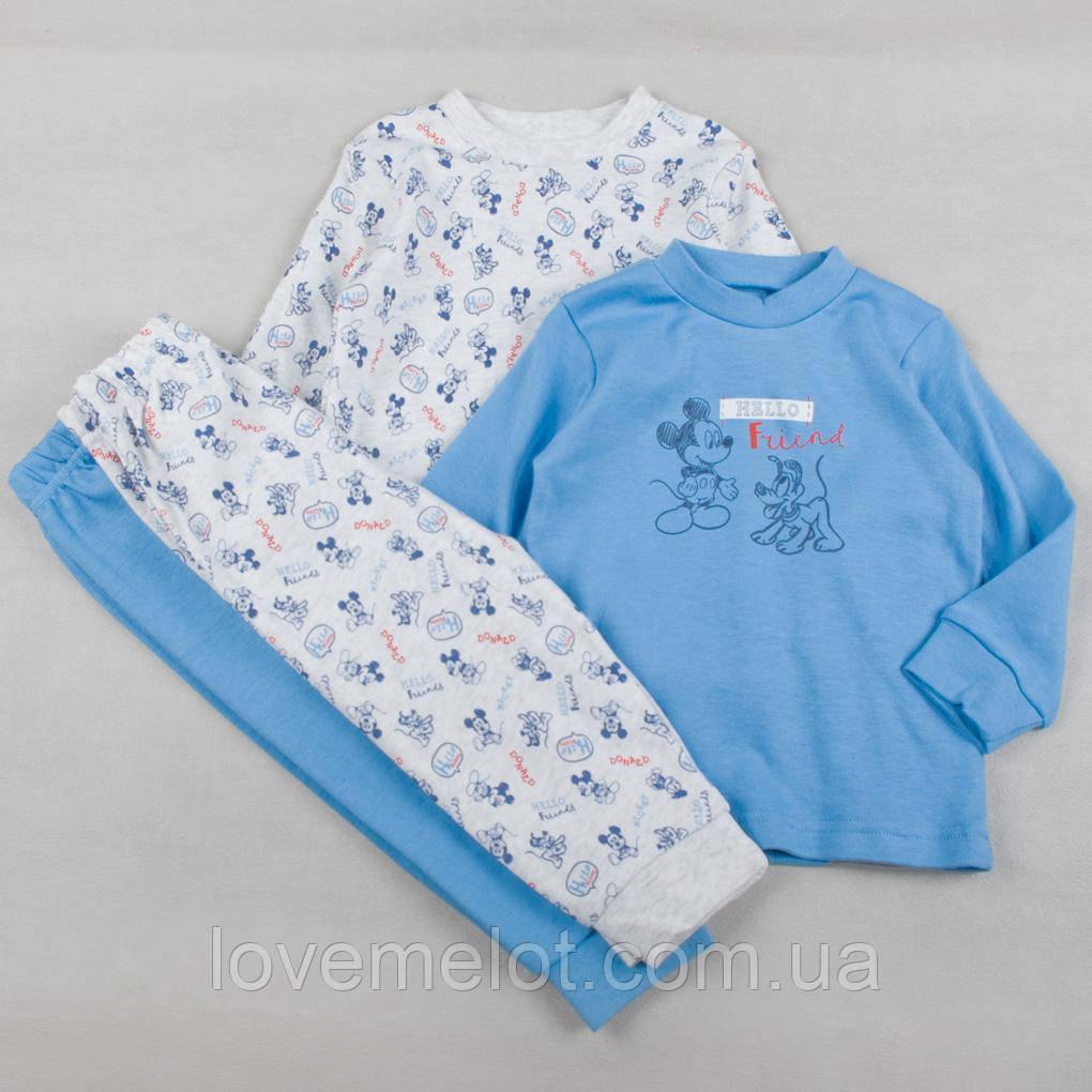 """Набор из 2х детских пижам, Дисней пижамки """"Микки и Плуто"""" для мальчика, на рост 80, 86, 92см"""