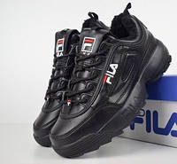 Мужские зимние кроссовки Fila Disruptor 2 black