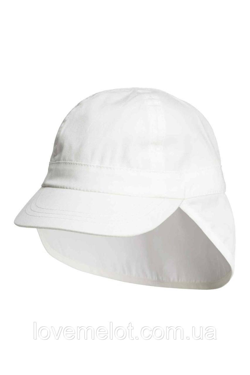 """Детская панама унисекс кепка летняя белая с козырьком H&M """"Сахара"""" от 3-х месяцев до 2х лет"""