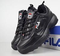 Кроссовки зимние женские Fila Disruptor 2 All Black