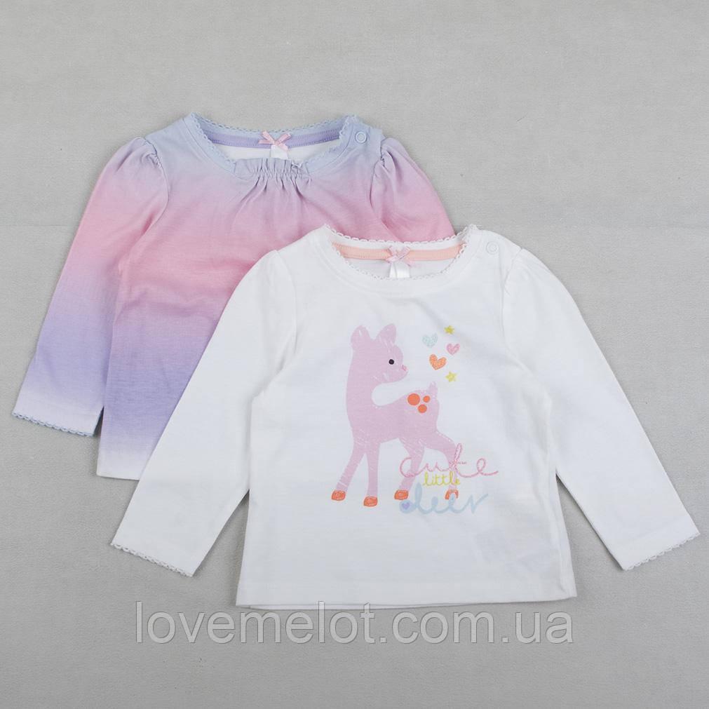 """Детские регланы Mothercare """"Милый оленёнок"""", набор регланов для девочки, размер 3-6 мес"""