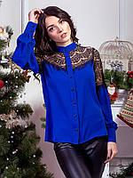 Эффектная блуза с дорогим гипюром, фото 1