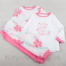 """Набор из 2х хлопковых пижам """"Мамина принцесса"""" для девочки, пижамки George хлопковые на рост 80см и 86см"""