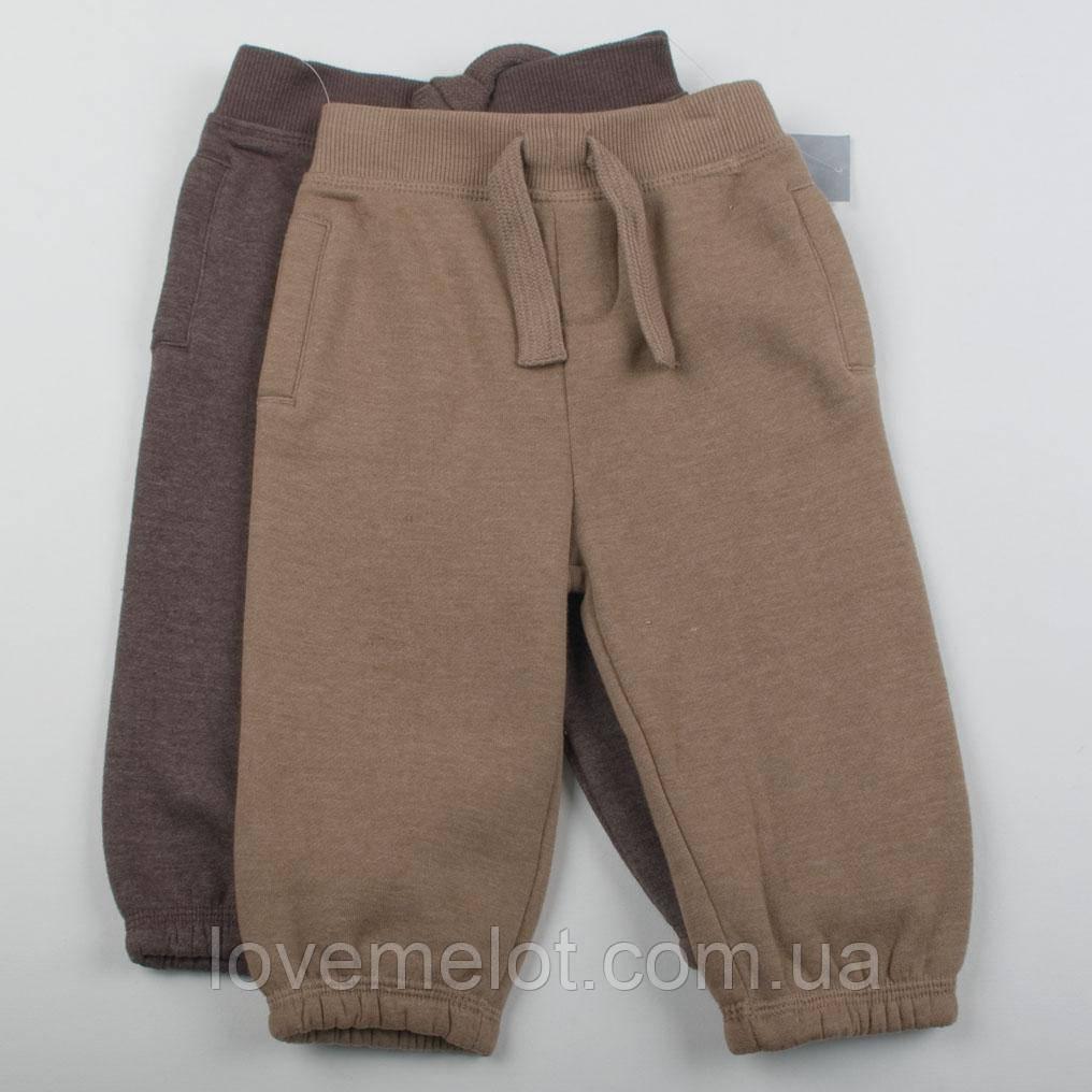 """Детские штаны с начесом на годик рост 80см 2 пары в наборе для мальчика""""Дункан"""""""