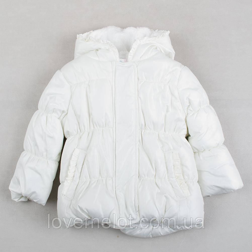 """Детская теплая куртка """"Белый лебедь"""" для девочки, размер 74 см, куртка для девочки теплая"""