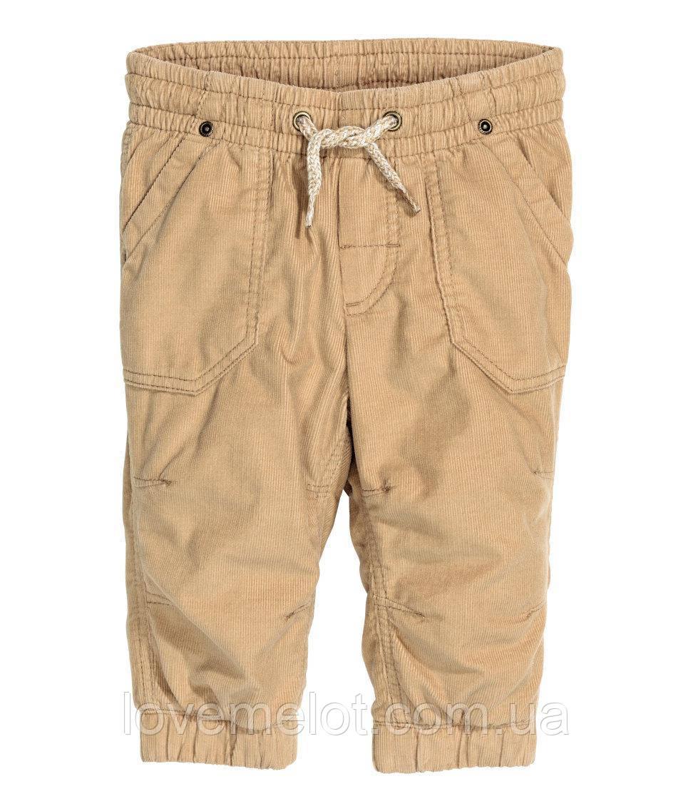 """Детские вельветовые брюки """"Риччи"""" для мальчика, рост 74, 80, 86 см, штаны для малыша вельветовые"""