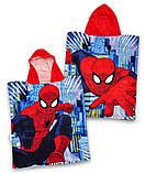 """Детское махровое полотенце, пляжное полотенце, детское пончо """"Человек-паук"""" для мальчика, фото 2"""
