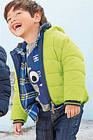 """Детская теплая куртка """"Луиджи"""" салатовая для мальчика, размер 80 см, куртка для мальчика детская"""