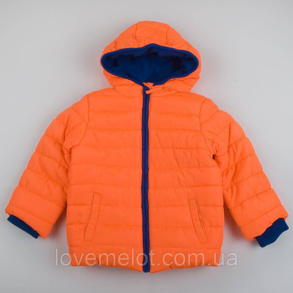 """Детская Куртка уни демисезонная оранжевая  Mothercare """"Креатив"""" для ребенка на 98,104 и 116см"""