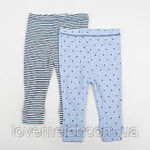 """Детские трикотажные штаны для мальчика Next на годик рост 80см """"Звездочки"""""""