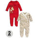 """Детские плотные человечки слипы для детей Ladibyrd """"Рождество"""" для девочки, размер 62 см, фото 2"""