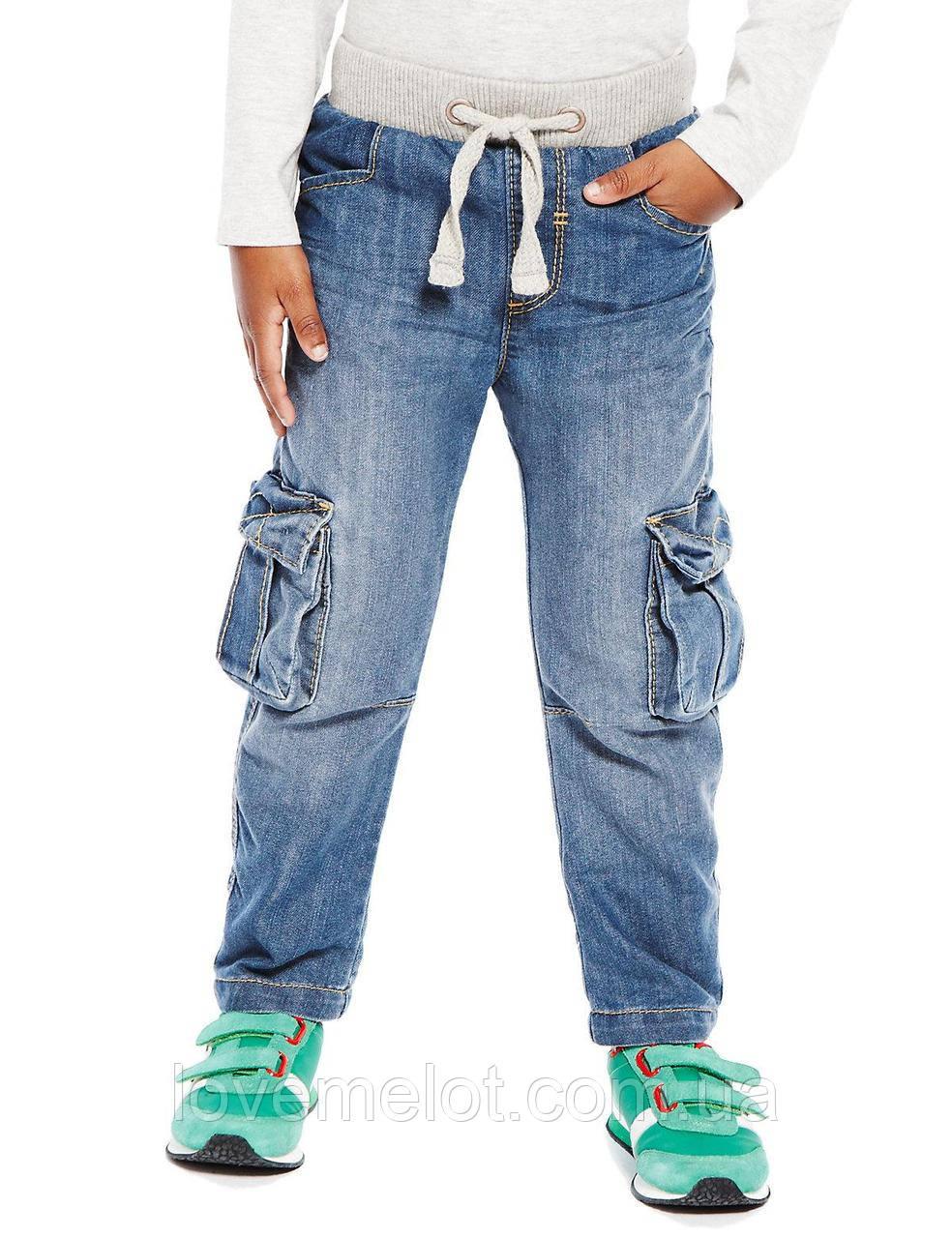 """Детские теплые джинсы на подкладке """"Штурман"""" для мальчика на рост 86см и 92см"""